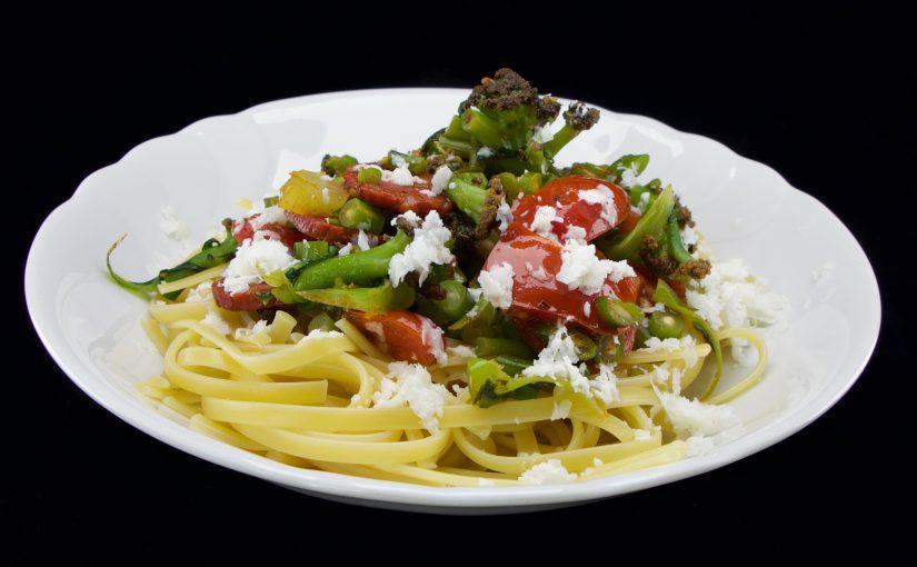 Pasta Chorizo und Gemüse